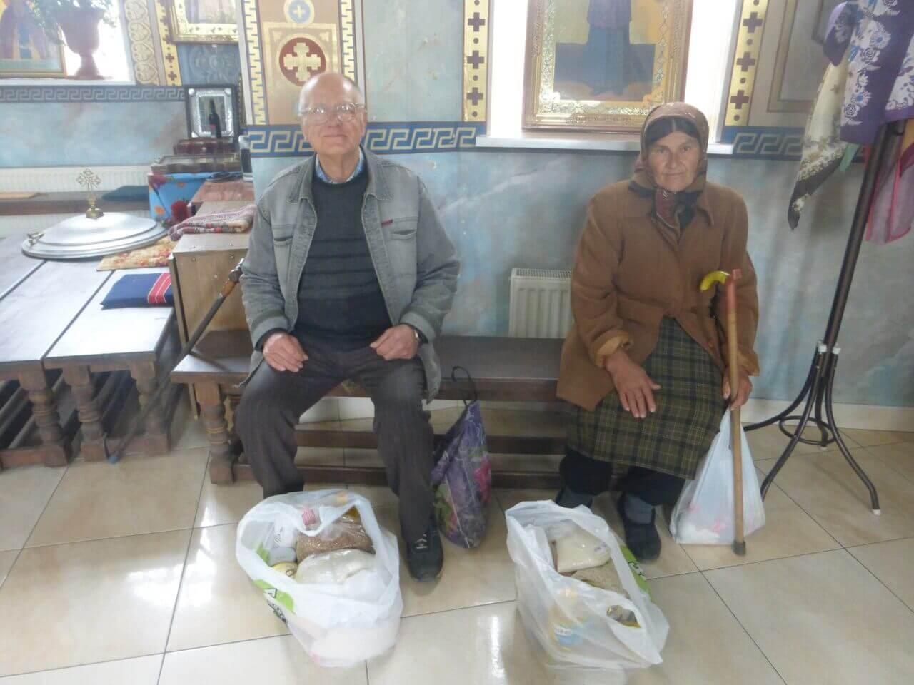 Продуктовые наборы одиноким пенсионерам