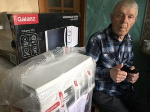 Пограничник Василий Михайлович благодарен Вам за подарочки!