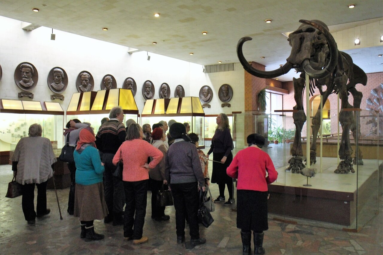 Подопечные в Музее Палеонтологии