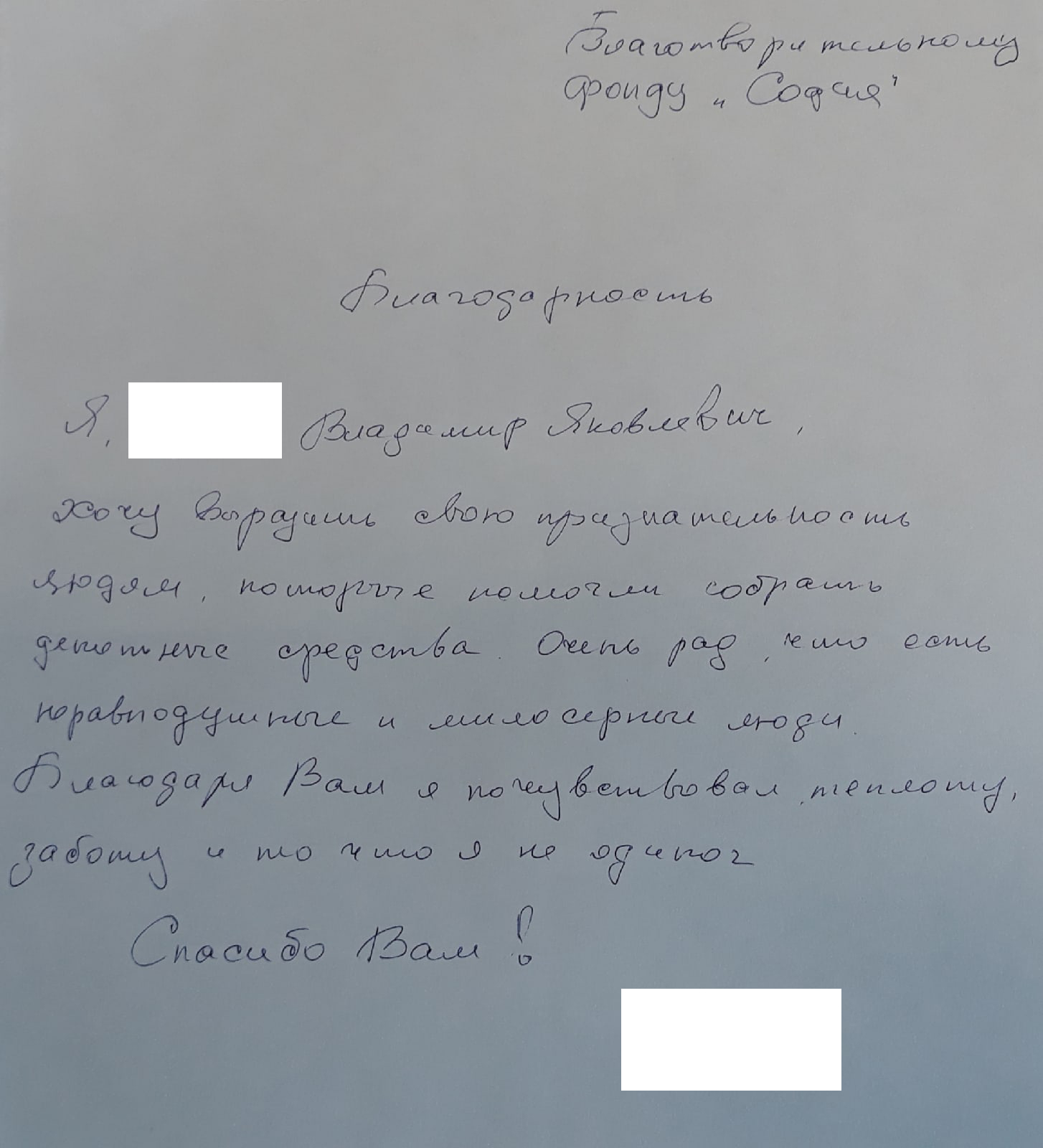 Помощь Владимиру Яковлевичу