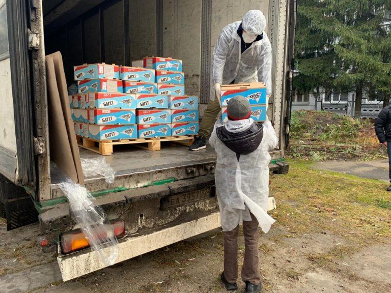 Четвёртая поставка продуктов в рамках проекта «Благотворительная доставка»